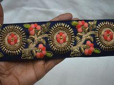 Navy Blue Indian Sari Border Craft Ribbon Wholesale