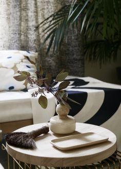 Marimekko's Flower vase, Oiva wooden plate and Oiva wooden platter