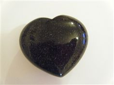 Blue Goldstone Crystal Heart A truly beautiful stone, with glittery speckles. Useful for migraines and associated visual problems. Also good for the blood system. Heart Ring, Blood, Gems, Stone, Crystals, Rings, Beautiful, Jewelry, Jewlery
