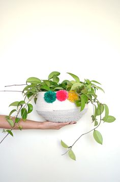 stitched rope basket