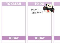 Kawaii Printer Planner Stickers, Printer Planner Stickers, perfect for Planners, Erin Condren, Plum Paper, Limelife, Filofax... de SandiaStickers en Etsy