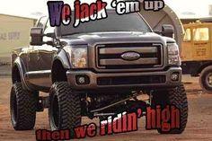 jacked up diesel trucks Classic Chevy Trucks, Lifted Ford Trucks, Pickup Trucks, Mudding Trucks, Lifted Chevy, Classic Cars, Ford Diesel, Diesel Trucks, Cool Trucks