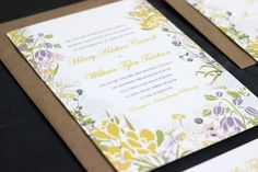 Unique Floral Vintage-Modern Wedding Invite Suite via The Oyster's Pearl on Etsy