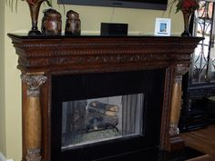 3217 - Keeping Room fireplace. Love the details.