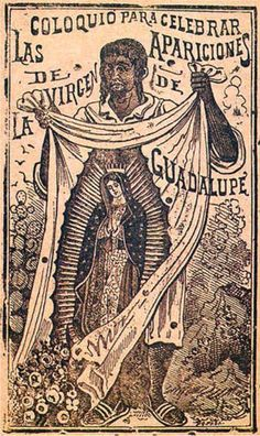 Nuestra Senora de Guadalupe-an etching by Jose Guadalupe Posada
