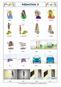 Adjective 2 flashcards for children