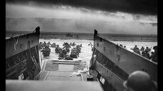 Original D-Day footage of US Troops storming the Beaches of Normandy