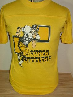 f182f45f7fe vintage 1980s Pittsburgh Steelers football t shirt Large 50 50