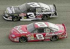Dale Earnhardt and Dale Earnhardt Jr. back in the day