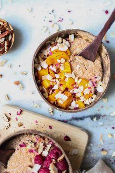 New Recipes Quinoa Breakfast Coconut Milk 53 Ideas Breakfast Bar Kitchen, Breakfast Bars, Breakfast For Kids, Healthy Breakfast Muffins, Sausage Breakfast, Breakfast Recipes, Oatmeal Porridge, Quinoa Porridge, Breakfast Photography