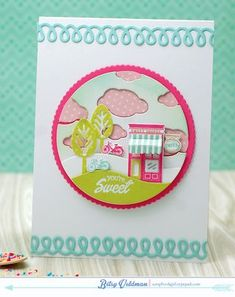 You're Sweet Card by Betsy Veldman for Papertrey Ink (March 2015)