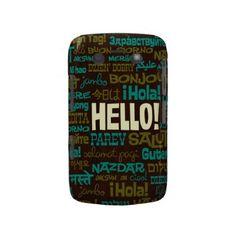Hello (Multi Language) Blackberry Case