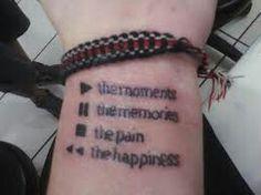 Play Stop Pause Rewind Tattoo