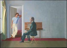 'George Lawson and Wayne Sleep', David Hockney, 1972-5 | Tate