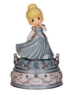 "Give your little girl an escape into her favorite story with the Precious Moments Disney Cinderella Musical Figurine. This adorable music box recreates Cinderella dancing at the ball as it plays the tune: ""A Dream is a Wish Your Heart Makes. Disney Precious Moments, Precious Moments Figurines, Disney Music Box, Cinderella Musical, Cinderella Wedding, Disney Figurines, Disney Statues, All Gifts, Heart For Kids"