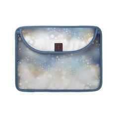 $67.95 Macbook sleeve, Sparks in blue design