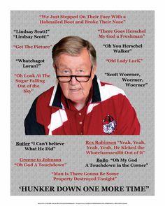 Georgia Bulldogs UGA Head Coach Larry Munson Autographed Print