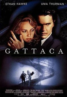 Gattaca is a 1997 science fiction film written and directed by Andrew Niccol. It stars Ethan Hawke, Uma Thurman and Jude Law with supporting roles played by Loren Dean, Ernest Borgnine, Gore Vidal and Alan Arkin. Sci Fi Movies, Movies To Watch, Good Movies, 1990s Movies, Excellent Movies, Awesome Movies, Famous Movies, Cult Movies, Uma Thurman
