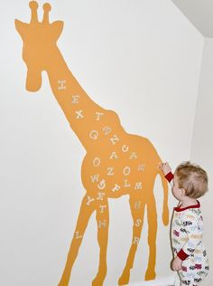 how to create a magnetic area in a kids room -- could make into any shape or color