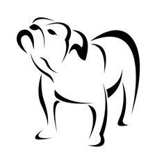 Clip Art - vector image of an dog (bulldog). fotosearch - search clipart, illustration posters, drawings and vector eps graphics images Dog Silhouette, Silhouette Design, Stencil Animal, Bulldogge Tattoo, Silhouettes, Desenho Pop Art, Arte Tribal, Doodles Zentangles, Pyrography