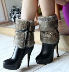 Beautiful Tropical winter here-High Heels Boots  High Heels Boots (beige,black,brown)  -  stylishplus.com