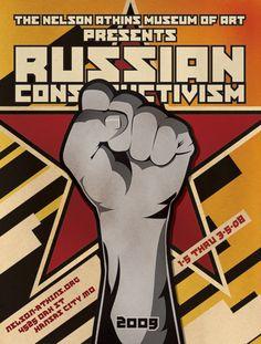 Russian Constructivism Poster by Bryan Sedey, via Behance
