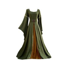 Medieval Dress ❤ liked on Polyvore featuring dresses, medieval, gowns and costume
