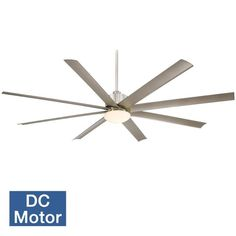 """View the MinkaAire Slipstream-XXL 84"""" 8 Blade Slipstream XXL Indoor / Outdoor Ceiling Fan with Blades and Integrated Light Included at LightingDirect.com."""