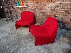 'Alki' Giancarlo Piretti for Castelli red chair #red #sale #chrome #curvy #vintage #retro #euvintage