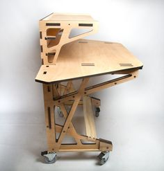 3D fabrication Desk le bureau par Peter Borges #Pin_it @Mundo das Casas See more Here: www.mundodascasas