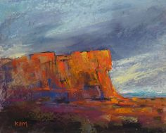 Contemporary Landscape Southwest Red Rock by KarenMargulisFineArt,