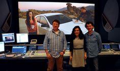 Ian Tapp, Tony Allen & Virginia Romero. Final Mix of Con Buenas Intenciones at Pinewood Studios.