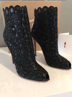 Christian Louboutin Rihanini 120 Nappa Suede / Kid / Patent / STRASS Black 41 #ad #christianlouboutin #heels #shoes #womensshoes #womensfashion #luxurylifestyle