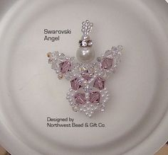 PDF Tutorial ~ Swarovski Angel Ornament / Pendant  INSTANT DOWNLOAD    Original Design by Northwest Bead & Gift Co. (nwbead)    Beginner to