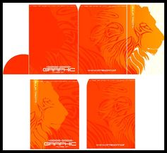 Creativa Carpeta con una poderoso León