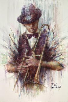 Purple and Trombone | Rémi LaBarre