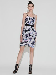 Silk Draped Corest Dress by Charlotte Ronson