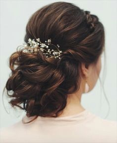 Take a look at these stunning wedding hairstyles from messy updo to half up half down + boho braid hairstyle + Classy and Elegant Wedding Hairstyles Elegant Wedding Hair, Wedding Hair And Makeup, Wedding Updo, Bridal Hair, Trendy Hairstyles, Wedding Hairstyles, Prom Hair Updo, Messy Updo, Wedding Hair Inspiration