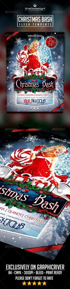 Christmas Bash Flyer Template Official website : http://thats-design.com/