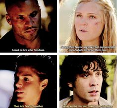 its a blake thing. bearing some of the burden in order to try to relieve the pain of the ones they love. #The100