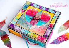 Gelli Printed pop-up box