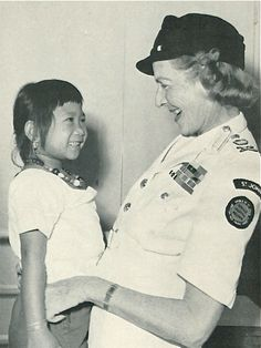 The last photograph taken of her before she died in her sleep, whilst on tour for St. John Ambulance in North Borneo.