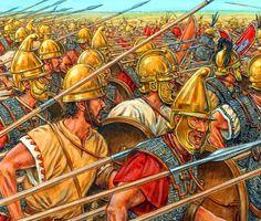 Carthaginian Phalanx in battle, Punic War Ancient Rome, Ancient Greece, Ancient History, Greek Soldier, Punic Wars, Roman Era, Frank Morrison, Man Of War, Greek Culture