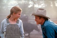 Scarlett Johansson & Robert Redford in The Horse Whisperer