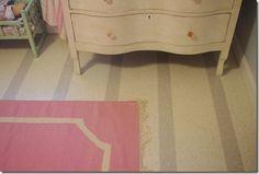 striped vct tile