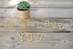 DIY SUCCULENT VALENTINE | Mason jars, bunting, mini flags, burlap, kraft paper and jute twine amount to a not so typical Valentine's Day | By Lauren Elise Crafted