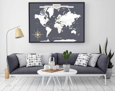 Personalised world pinboard map travel pin board map ideas push pin travel map world travels map map art world map canvas travel map push pin map canvas or art print h i18 1ps aa4 06p gumiabroncs Image collections