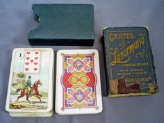 VINTAGE CARTES LENORMAND FORTUNE TELLING PLAYING CARDS/H.P GIBSON & SONS LTD
