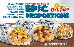 FIRST LOOK: New Epic Fajita, Steak and Potato, and Chicken Chipotle Ranch Burritos from Del Taco