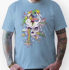 Flying Rainbow skull Island Unisex T-Shirt Skull and Crossbones Shirts » TShirt Syndicate Where all the good shirts go